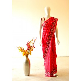 Beautiful Kantha Handwork Saree